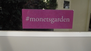Hashtag for the Monet Garden Exhibit at The NY Botanical Garden