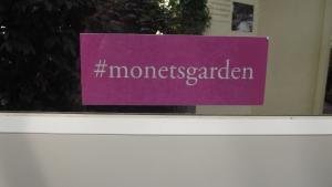 Hashtag for the Monet Garden Exhibit at The NY Botanical Garden