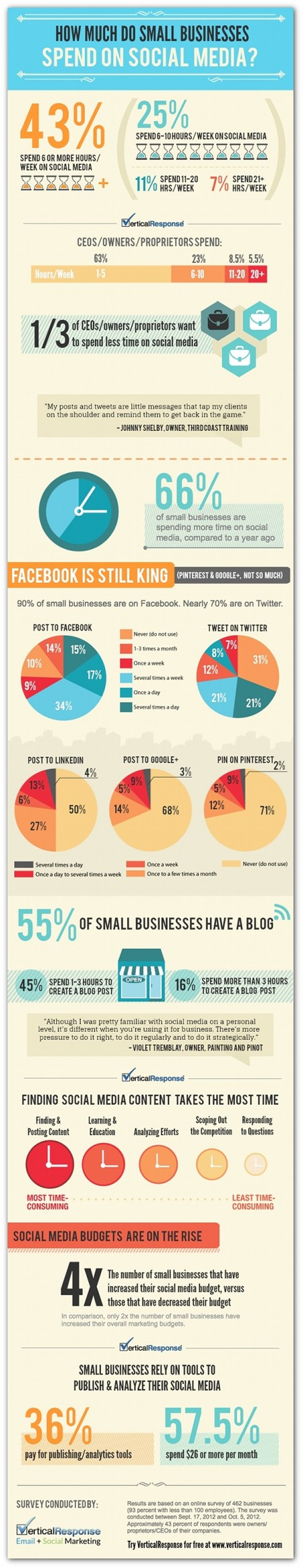 Infographic, small businesses and social media