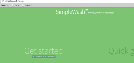 Simple Wash Website